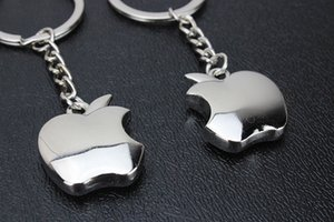 Wholesale BY DHL Metal Lovely Apple Shaped Keychains Novelty Fruit Keyrings for Women Gifts lin3773