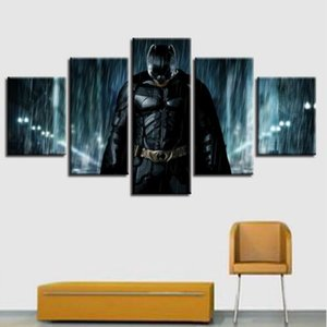 Canvas Prints Superhero Poster Home Decor 5 Pieces Batman Superman Spider Man Painting Modular Movie Pictures Bedroom Wall Art