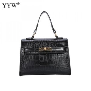 Wholesale Black Pu Leather Formal Handbag For Women Tote Handle Hand Bags Crocodile Grain Large Capacity Zipper Crossbody Office Bag New