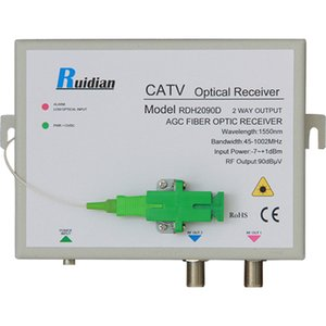 Wholesale Factory FTTH Two Ways CATV Fiber Optic AGC Receiver build in WDM RDH2090D