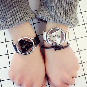 Wholesale idealway Simple Triangle Watch Personal Fashion Double Sided Hollow Student Lovers Watch