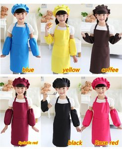 Child Apron Kids Sleeve Hat Pocket Kindergarten Kitchen Baking Painting Cooking Drink food Enfant Tablier Delantal Logo print