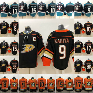 Wholesale 2018-2019 Anaheim Ducks Hockey Jerseys 8 Teemu Selanne 9 Paul Kariya 10 Corey Perry 15 Ryan Getzlaf 17 Ryan Kesler New Third Jerseys