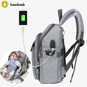 Wholesale nursing chairs for sale - Group buy Baaobaab CYU1 Mummy Maternity Nappy Bag Nursing With USB Interface Multifuction Dining Chair Large Capacity Stroller Backpack