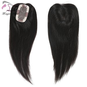 Wholesale hair topper for sale - Group buy Natural Black Hair Toupee Customization according your requirements Hairpiece Straight Hair womens topper Brazilian Remy Hair
