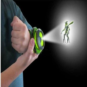 Wholesale Ben Omnitrix Watch Style Kids Projector Watch Japan Genuine Ben Watch Toy Ben10 Projector Medium Support Drop Action Figure