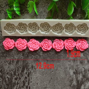 Wholesale Yueyue Sugarcraft Rose Flower silicone mold fondant mold cake decorating tools chocolate gumpaste baking