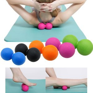 TPE Peanut Massage Ball For Pilates Yoga - Myofascial Release Fitness Massager Roller Lacrosse Ball Body Massage Fitness Exercise Balls
