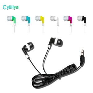 Wholesale Disposable Earphones Headphones Low Cost Earbuds for Theatre Museum School Library Hotel Hospital Gift