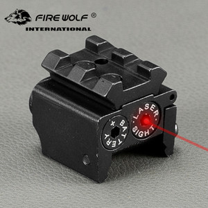 Wholesale high scope mounts for sale - Group buy FIRE WOLF nm m Mini High quality Tactical Red Dot Laser sight Scope x26mm DC V Dual Weaver Rail Mount Compact