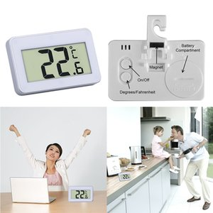 Wholesale temperature for refrigerator resale online - LCD Digital Thermometer Temperature Meter Mini with Magnet Hook for Refrigerator Save Electricity