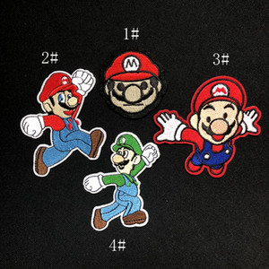 Wholesale 2 inch hot sale SUPER MARIO Brother Embroidered Iron On Patch Applique Badge KIDS sew on patch Applique GP