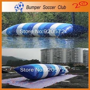 Wholesale inflatable water parks for sale - Group buy Free Pump Blob Bouncing Bag Inflatable Jumping Bag Size M Playing With Water Trampoline Water Park
