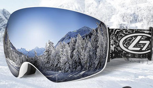 New ski goggles double anti-fog adult large spherical ski glasses all-inclusive ski equipment eye protection, sharpening, windproof