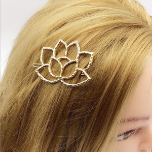 Wholesale Europe Small Fresh Fashion Flower Hair Accessories Summer Lotus Open Fresh Literary Fan Lotus Style Hairpin