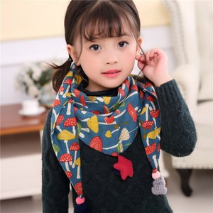 Wholesale 65 styles Korean children s scarves boys and girls fashion fallow warm scarf new style kids star Cactus bear cartoon full print scarves