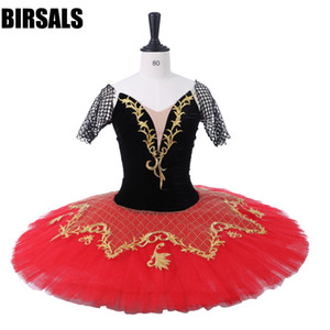 Wholesale Performance Ballet Pancake Tutu Professional Ballet Tutus BT9214 Black Red Kitri Don Quixote Adult Women Stage Costume