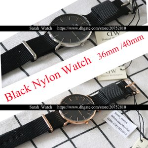 Wholesale Best Version mm mm Men Watch Black Nato Nylon Women Watches Japan Movement Waterproof relogio masculino reloj mujer Clock Without Box