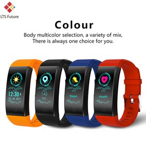 Wholesale Smart Sport Bracelet IP68 Waterproof Call Reminder Message Step Tracker Heart Rate Monitor Square Shape Adult Fitness Wristbands