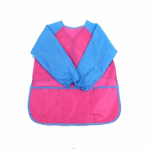 New small size code children's waterproof apron anti-wear blouse long-sleeved clothes boys girls art painting eating bib