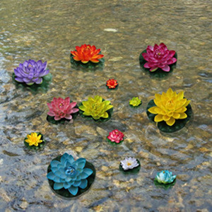 Wholesale Artificial Lotus Leaf Manual Bud Type Fake Pond Flowers Floating Water Wedding Home Party Decoration Photo Props zx ff