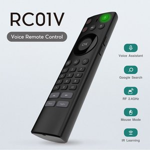 Wholesale 2 G Wireless Voice remote control Air Mouse for Android TV Box keyboard with infrared Voice Remote Control IR Learning for smart tv