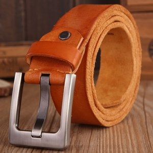 Wholesale 2017 belts men high quality full grain real genuine leather natural soft strap camel girdle brown wide luxury cowboy cm