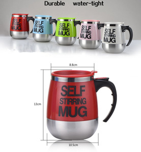 Wholesale 450ml Stainless Steel Automatic Cups Electric Self Stirring Mug Coffee Mixing Drinking Cup Color Choose