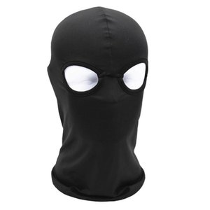 Wholesale 2 Hole Full Face Mask Balaclava Hat Motorcycle Bike Hunting Cycling Cap Ski Military Tactical Sport Bicycle Face Mask Equipment