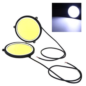 1 Pair Daytime Running Light Flexible Round Shape DRL Car Lights Car Styling Universal