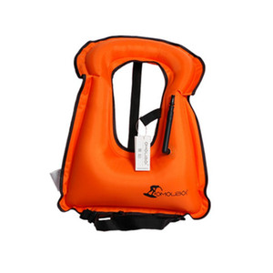 Wholesale inflatable jacket for sale - Group buy Unisex Adult Child Portable Inflatable Canvas Life Jacket Dive Snorkel Diving Surf Surf Fishing Nautical Insurance