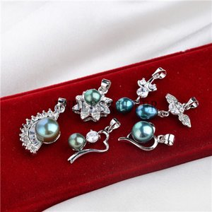 Wholesale green peacock pearls for sale - Group buy Fashion Designs Peacock Blue and Peacock Green Freshwater Pearls Pendant Various Styles for Women and Girls