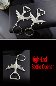 Free DHL Zinc Alloy Airplane Plane Shape Bottle Opener Keychain Pocket Key Ring Wine Opener Wall Mount Corkscrew Vintage Travel Tool H843R F