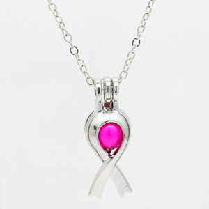 Wholesale aids day for sale - Group buy European and American fashion charm ribbon pendant pearl cage AIDS prevention organization logo Pearl must be purchased separately