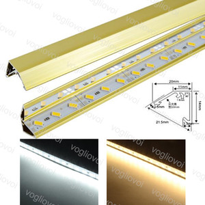 Wholesale LED Rigid Strip V Aluminium Gold SMD5730 Cabinet Light Jewlry Light Hard Strip 100cm 72Led DC12V 18W 1800lm non-waterproof DHL