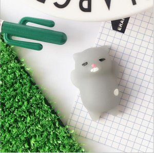 Wholesale Hot Sale Jumbo Squishy Pink White Cat Kawaii Cute Animal Slow Rising Sweet Scented Vent Charms Bread Cake Kid Toy Doll Gift
