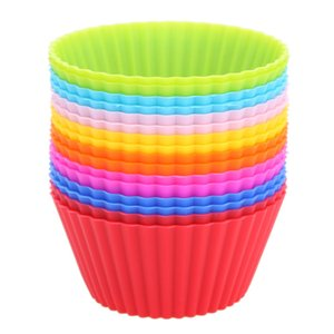 Free shipping Silicone Cupcake Liners Mold Muffin Cases Round Shape Cup Cake Tools Bakeware Baking Pastry Tools Cake Mold