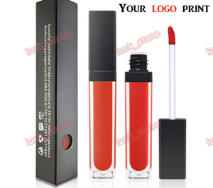 Wholesale 27 color no logo lipgloss Square tube Nonstick cup, long Lasting matte Lip Gloss in black box 2017 fashion welcome OEM order