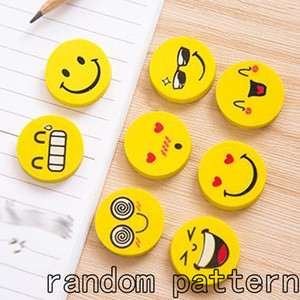 Wholesale 12pcs Smile Face Emoji Rubber Eraser Pencil Eraser Students Stationery for Children Kids Birthday Party Gifts Party Favors