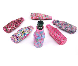 Lily Style Neoprene Can Holder Rose Useful Regular Bottle Colour Printing Cooler Beer Cup Sleeve Random Color Send H767Q