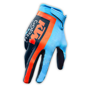 Wholesale 2018 KTM Bike Cycling Gloves Full Finger Gel Padded Outdoor Sports Bicycle Glove Motorcycle Racing Gloves Guantes ciclismo C2205