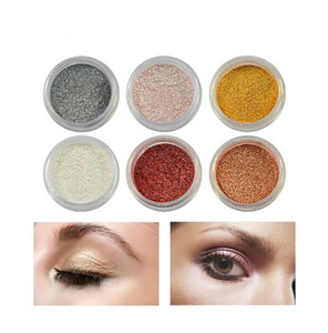 Wholesale 13 Colors Eye Shadow Flash Powder Super Bright Pearl Shining Bright Glitter Pigment Diamond Nude Loose Mineral Eyeshadow
