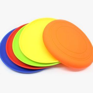 Wholesale Silicone Flying Discs Pet Frisbee Dog Cat Toy Food grade Silicone Frisbee Utensils Dog Supplies Dia cm