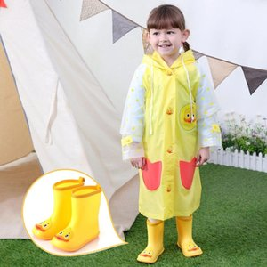 Wholesale Baby Girl Shoes Fashion Cartoon Duck PVC Rubber Waterproof Warm Boots Rain Shoes Casual Casual Baby for Jul31