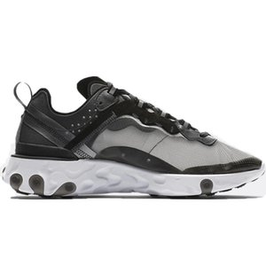 save off 28447 9820a UNDERCOVER x Upcoming React Element 87 Pack White Sneakers Brand Men Women  Trainer Men Women Designer Running Shoes Zapatos 2018 New