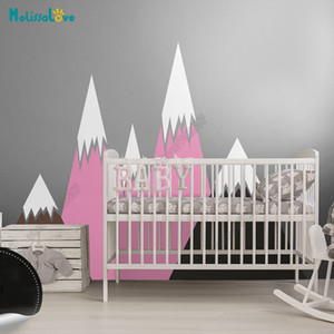 Wholesale Big Baby Room Decal Adventure Theme Decor Huge Mountain Colorful Nursery Kid Room Removable Vinyl Wall Sticker JW378