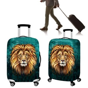 Wholesale 18 inch Polyester Luggage Bag Cover Lion Travel Elastic Suitcase Cover Dust Proof Protective cover for mens