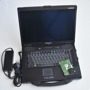 mb star xentry venda por atacado-MB Estrela C4 C5 Software Xentry Das EPC Vediamo HDD com Laptop Toughbook CF52 Rugged Computer Star Diagnóstico