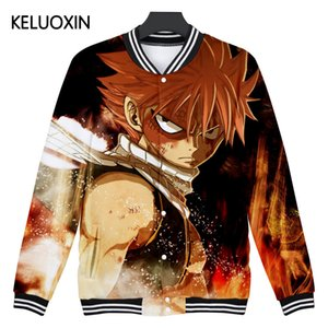 Wholesale KELUOXIN D Anime Fairy Tail Baseball Jacket Men Women Harajuku Hip Hop Cartoon Character Avatar D Hoodies Brand Clothing