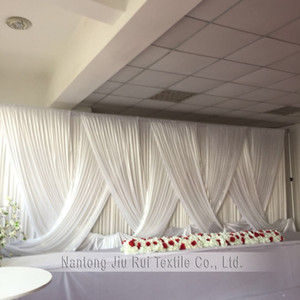 Wholesale black curtains resale online - 2018 New Design Arriaval Black Drapes Only Wedding Backdrop For mx6m Curtain Wedding Decoration Party Decoration